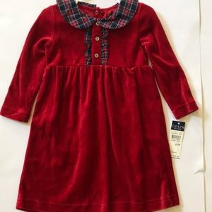 Chaps Toddler Girls Red Dress